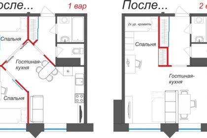 Как сделать из однокомнатной квартиры двухкомнатную?